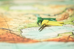 Travel planning concept Stock Images