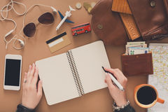 Travel planning concept, top view Stock Photography