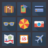 Travel Planning Icon Set Stock Image