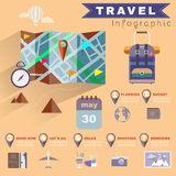 Travel Planning Illustrated Infographics Stock Images