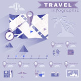Travel Planning Illustrated Infographics Royalty Free Stock Photos