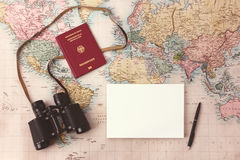 Travel planning Stock Image