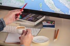 Travel planning Royalty Free Stock Image