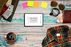 Travel planning and preparation concept Royalty Free Stock Photo