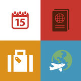 Travel planning vector icon Royalty Free Stock Photo