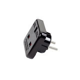 Travel plug/adaptor. Royalty Free Stock Image