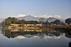 Travel in pokhara. Very beautiful views  in pokhara nepal Royalty Free Stock Photo