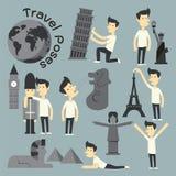 Travel Poses Stock Image