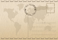 Travel postcard Royalty Free Stock Photography