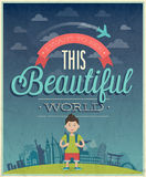 Travel poster. Royalty Free Stock Image