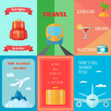 Travel Poster Set Stock Image