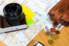 Travel preparations Royalty Free Stock Photos