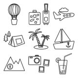 Travel, recreation and vacation vector pictures set. Tourism types. Vector stock illustration