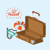 Travel related icons image Royalty Free Stock Images