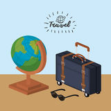 Travel related icons image Stock Photos