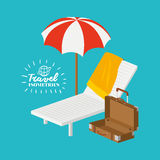 Travel related icons image Royalty Free Stock Photo