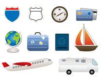 Travel related items Royalty Free Stock Photo
