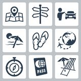 Travel related vector icons Royalty Free Stock Photography