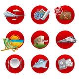 Travel and resort icon set Royalty Free Stock Photo