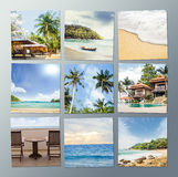 Travel and resort photo collection Royalty Free Stock Photo