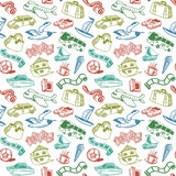 Travel And Rest Seamless Pattern stock illustration