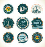 Travel retro labels collection Royalty Free Stock Photo