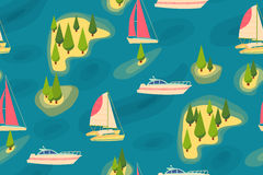 Travel retro seamless pattern royalty free illustration