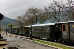 Travel retro train Stock Photos