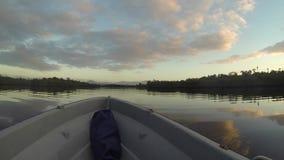 Travel on the river. In Madagaskar stock video