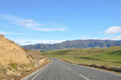 Travel on a road. Along moutains Royalty Free Stock Images