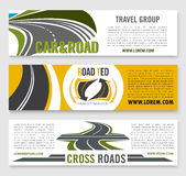 Travel road group company vector banners Stock Photos