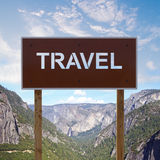 Travel road sign Royalty Free Stock Images