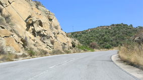 Travel the roads of Sithonia peninsula. stock video