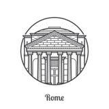 Travel Rome Icon Stock Photography