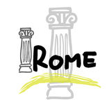Travel Rome. Rome travel poster cartoon vector Royalty Free Stock Photography