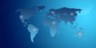 Travel Route. High Resolution Graphic of a business travel route Stock Photos