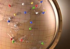 Travel Route Stock Photo