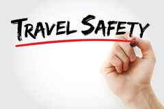 Free Travel Safety Text With Marker Royalty Free Stock Photos - 197684468