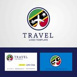 Travel Saint Kitts and Nevis Creative Circle flag Logo and Business card design. This Vector EPS 10 illustration is best for print media, web design vector illustration