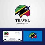 Travel Saint Kitts and Nevis Flag Logo and Visiting Card Design. This Vector EPS 10 illustration is best for print media, web design, application design user vector illustration