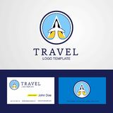 Travel Saint Lucia Creative Circle flag Logo and Business card d. Esign - This Vector EPS 10 illustration is best for print media, web design, application design royalty free illustration
