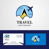 Travel Saint Lucia Flag Logo and Visiting Card Design. This Vector EPS 10 illustration is best for print media, web design, application design user interface stock illustration