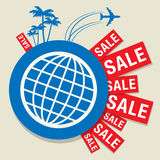 Travel Sale abstract design Royalty Free Stock Photography