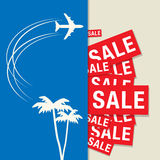 Travel Sale abstract design Stock Photography