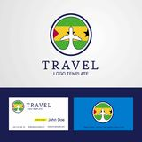 Travel Sao Tome and Principe Creative Circle flag Logo and Busin. Ess card design - This Vector EPS 10 illustration is best for print media, web design stock illustration