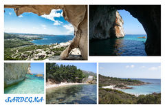 TRAVEL Sardinia postcard - Italy Stock Photo