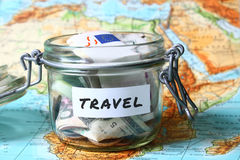 Travel savings Royalty Free Stock Image