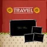 Travel scrapbook background stock photos