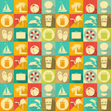 Travel Seamless Background Royalty Free Stock Image