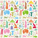 Travel seamless background Stock Images